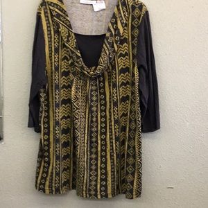 Romans Black and gold top.
